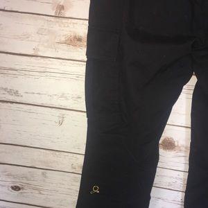 77795051e37 jaanuu Pants - Jaanuu Black Gold Zipper Cargo Scrub Pants Small